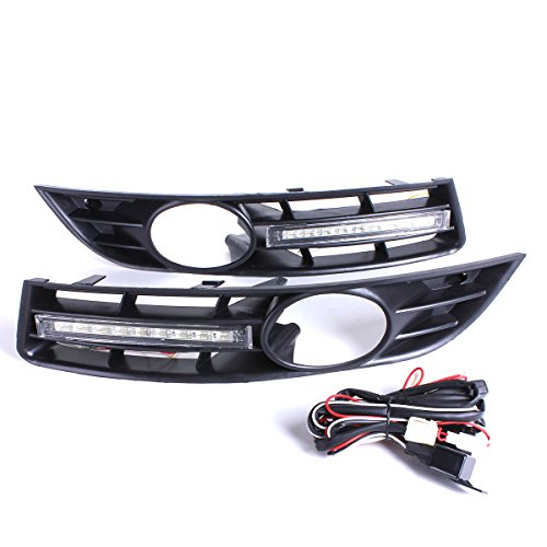 Generic NV_1001005145_YC-UK2 B6 3D L Interruptor de funcionamiento para rejillas antiniebla de día L + LED Runni VW Volkswagen itch, luz DRL diurna W Vol Passat B6 3 FOG GRI