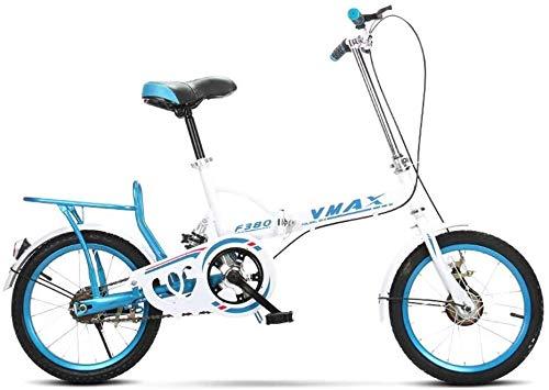 XZQ Klapprad Kinder, die 16-Zoll-Shock-Fahrrad kann durch Arbeits Menschen zu Arbeiten und geht zum Spielen verwendet Werden (Color : 1)
