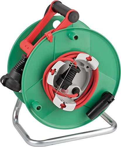 Brennenstuhl Garant G IP44 Gartenkabeltrommel (Kabeltrommel für Rasenmäher mit 38+2m Kabel in rot, Spezialkunststoff, kurzfristiger Einsatz im Außenbereich, Made in Germany)