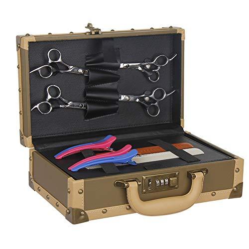 Hairdressing Bag Coiffeur verrouillable boîte à Outils étuis de Rangement Portable étui de Rangement Polyvalent Coiffeur Cheveux Ciseaux Organisateur boîte avec poignée Fermoir verrouillable