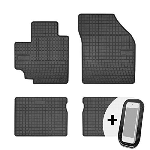 moto-MOLTICO Gummimatten Auto Fußmatten Gummi Automatten Passgenau 4-teilig Set - passend für Suzuki Celerio ab 2015