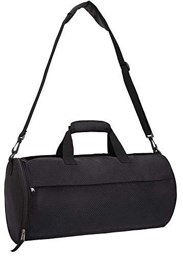 MIER kleine gymtas met schoenenvak, sporttas voor mannen, vrouwen, dames, jongens, meisjes, 30 l, puur zwart