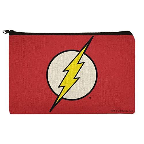 The Flash Lightning Bolt Logo Pencil Pen Organizer Zipper Pouch Case