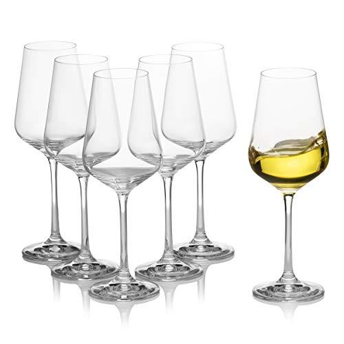 Juego de 6 copas de vino blanco – Stemmed, Elegante, Universal, Duradera...