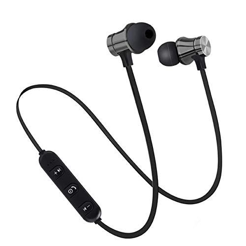 Auriculares Bluetooth 4.2 inalámbricos estéreo movimiento magnético succión antideslizante compatible teléfono móvil Tablet PC Android iOS y otros sistemas (color: negro)