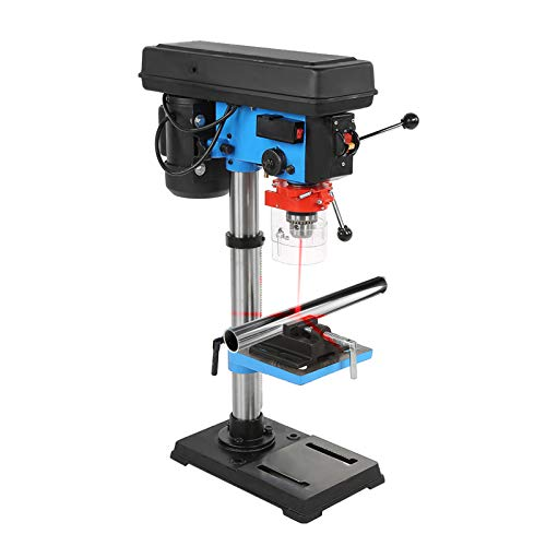 Industrial Grade Benchtop Drill Press with Vice, Electric 9 Speed Workbench Drill Press with Laser Position Function, High Efficient 220V 550W Adjustable DIY Industrial Drill Press with 16mm Chuck