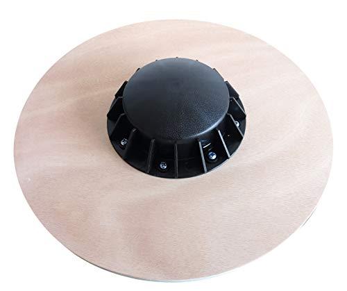 Balance Board - Planche Équilibre - Plateau Proprioceptif - Surface de Contact Antidérapante - Bois Solide de Haute Qualité - Diamètre 39,5cm - Poids max 110kg - Fitness Thérapie