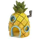 Pet ting adorno para decoración de pecera con forma de bob esponja para casa de piña