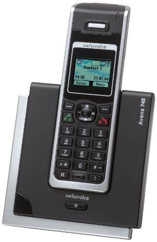 Swissvoice Avena 748 Schnurloses Analog-Telefon (DECT) mit beleuchteter Tastatur und Farbdisplay im FullEco-Mode