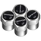 NA 4 Piezas Tapas de válvula de neumático de Coche Cubierta de protección de Acero Inoxidable para Nissan Qashqai J10 J11 2011 2008 2018 2019