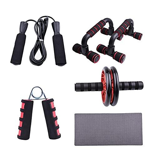 XIAOSHI BH hochdrücken 5-in-1-Push-up-Bar-Stand, Fitnessgeräte Gepolsterte Griffe für sichere Griff-Non-Skid-Springseil-Set hochdrücken