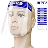 10 PCS Safety Face Shield-Full Face Transparent Breathable Visor Windproof Dustproof-With Transparent Clear Film