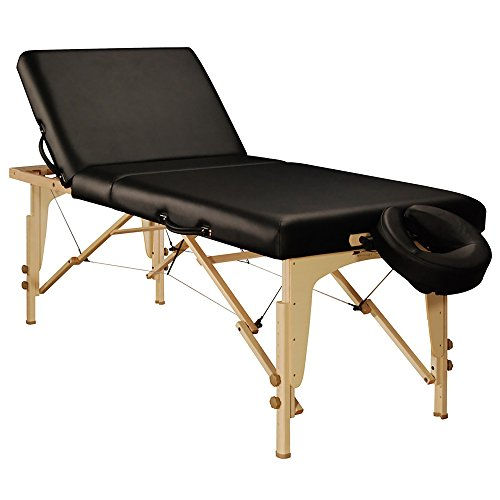 Mt Massage Midas-Tilt 30'' Liftback Tilting Salon Portable Massage Table Package(Black)
