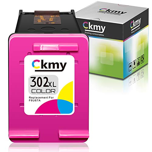 CKMY Remanufactured para HP 302 XL 302XL Cartucho de Tinta 1 Color para HP Officejet 5220 5230 3830 3831 3832 3835 4650 5252 5255 Deskjet 1110 2130 2132 3630 3636 3637 Envy 4520 4524 4525 4527 4655