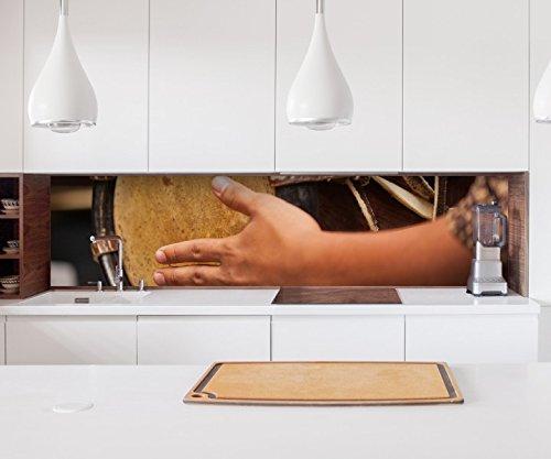Aufkleber Küchenrückwand Thai Trommel Musik Kunst Schlagzeug Folie selbstklebend Dekofolie Fliesen Möbelfolie Spritzschutz 22A1117, Höhe x Länge:70cm x 150cm