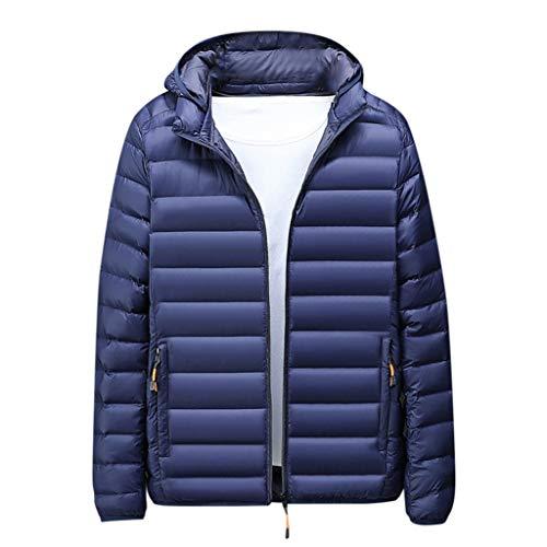 serliy😛Herren Ultraleicht Daunenjacke Steppjacke mit Kapuze Winterjacke Packable Mantel Warme Daunenjacke Kapuzenjacke Winter Puffer Jacke isolierter Winterpuffermantel für den Außenbereich