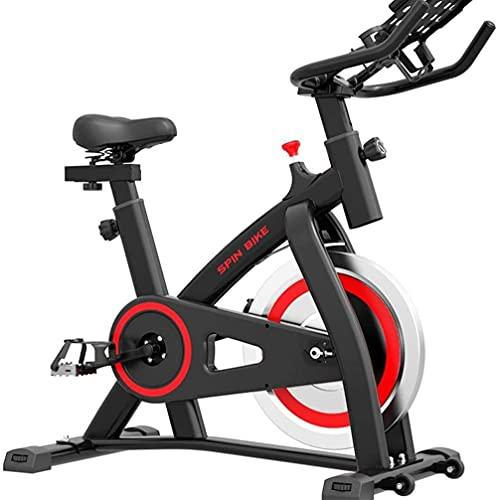Bicicletas de ejercicio Spinning Bike Bicicleta de ejercicio para el hogar Bicicleta de ejercicio de interior, bicicleta estática para el gimnasio en casa (color negro: 100 x 50 x 106 cm)