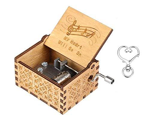 Cuzit The Titanic Movie Themen-Spieluhr My Heart Will Go On Antik geschnitzte Handkurbel Holzspieluhr Spielzeug