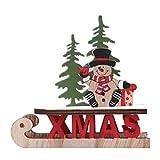 KERDEJAR Decorazioni per Capodanno Babbo Natale Pupazzo di Neve Alci Ornamenti per Slitta Natalizia Decorazioni Natalizie per Artigianato Domestico Regali Puzzle in Legno Pupazzo di Neve