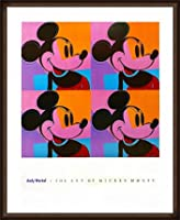 ポスター アンディ ウォーホル ミッキーマウス 1982 額装品 ウッドハイグレードフレーム(オーク)