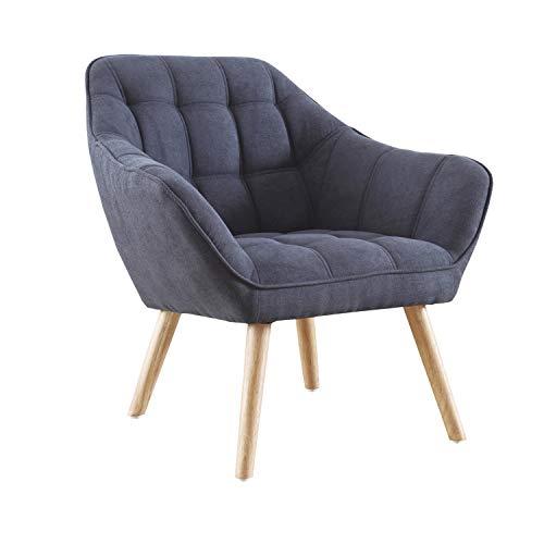 Adec Group Olden, Sofa Individual de una Plaza, Sillon Descanso, 1 Persona, Acabado Tejido Gris y Patas Haya, Medidas: 83 cm (Largo) x 75 cm (Ancho) x 77 cm (Alto)