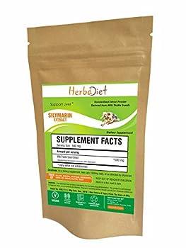 Milk Thistle Extract Powder | Standardized 80% Silymarin Flavonoids 400mg per Serving | Promotes Liver Health Supplement for Men & Women | Vegan Non-GMO Gluten Free 100 Gram