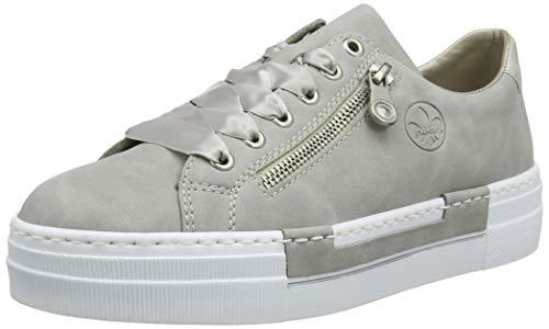 Rieker Damen N49C2 Sneaker, Grau Cement Silver 40, 41 EU