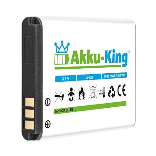 Akku-King Akku kompatibel mit GPS Tracker GT102, TK102, TK102A, TK102B, TK106, Technaxx MusicMan MA Soundstation - Li-Ion 1100mAh