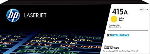 HP 415A W2032A Cartuccia Toner Originale da 2.100 Pagine, per Stampanti HP Color LaserJet Serie Pro M454 e M479, JetIntelligence, Giallo