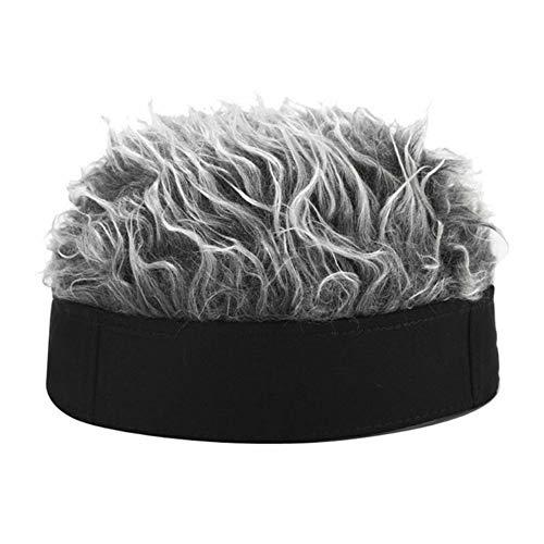 PerGrate Fashion Solid Color Handsome Men's Wig Hat, Men Women Novelty Beanie Hat,Short Wig cap Funny Unisex Retro Beanie Hat Warm Outdoor cap
