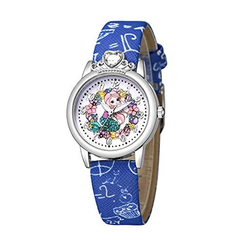CXJC Reloj Pink Princess Series Chicas Cuarzo, Reloj Deportivo Impermeable 3ATM, Personalidad, Moda, Multi-Color Opcional (Color : Re)