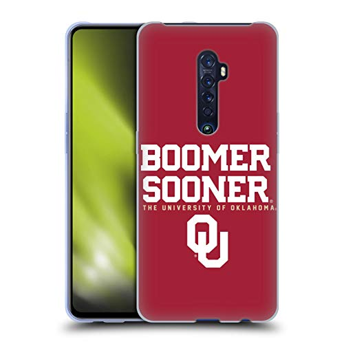 Head Case Designs Officially Licensed University of Oklahoma OU Boomer Sooner Soft Gel Case Compatible With Oppo Reno 2