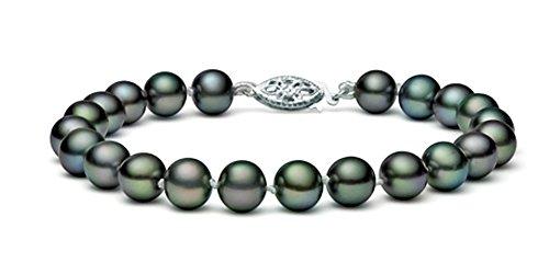 In oro 14 k, con perle coltivate d'acqua dolce, di alta qualità, 20,32 (8 cm