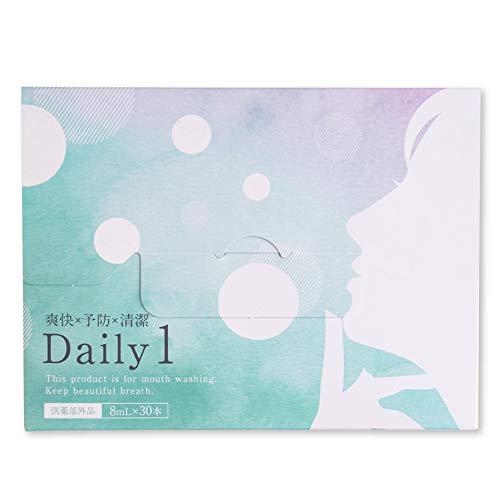 【医薬部外品】Daily1(デイリーワン) マウスウォッシュ スティックタイプ [ オーラルケア キシリトール メントール 配合 ホワイトニング ]1箱30本 フロムココロ