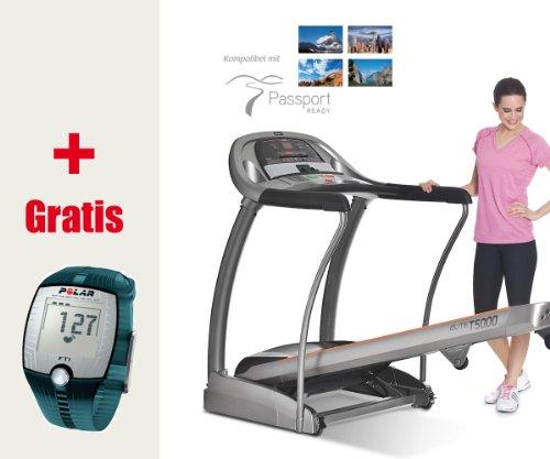 Horizon Cinta de Correr Fitness Elite T5000–Incluye FT1Pulsómetro Polar y T31Pecho Correa