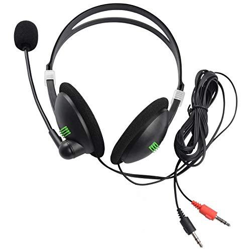 xiaoxioaguo Auriculares estéreo con micrófono con cancelación de ruido y bajos de alta fidelidad para Sony iPhone, Xiaomi PC