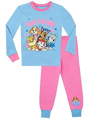 Paw Patrol Pijamas para Niñas Chase Marshall Skye Everest Ajuste Ceñido Multicolor 3-4 años de