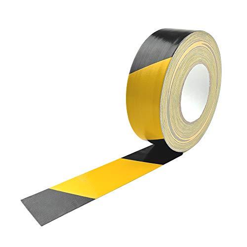 Premium Gewebe Klebeband/Industrie - Markierungsband, Gelb/Schwarz, 50mm x 50m