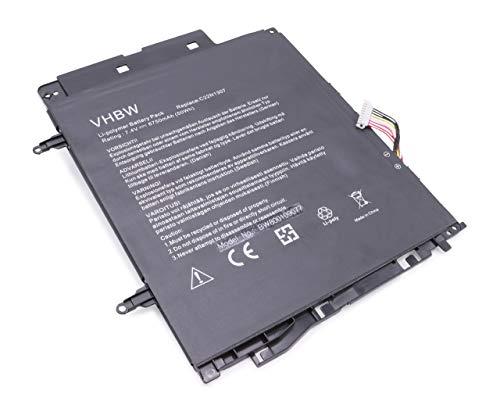 vhbw Li-Polymer Batterie 6750mAh (7.4V) pour Ordinateur, Tablette ASUS Transformer Book T300, T300CHI-F1-DB, T300L, T300LA comme C22N1307.
