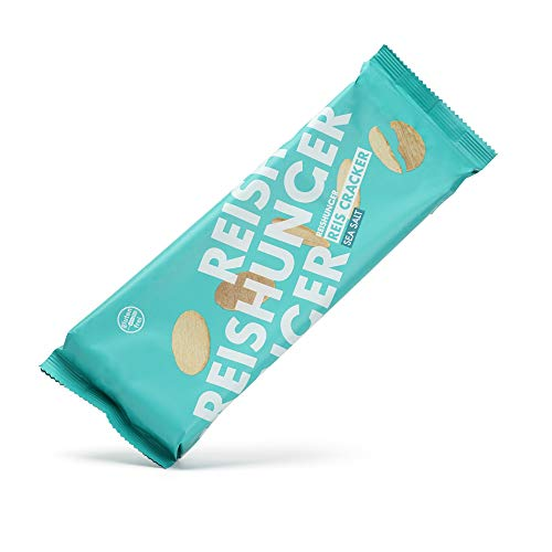 Reishunger Knusprige Reis Cracker Sea Salt (4x100g) - Vegane und Glutenfreie Chips mit Salz - In vielen Sorten und Größen verfügbar