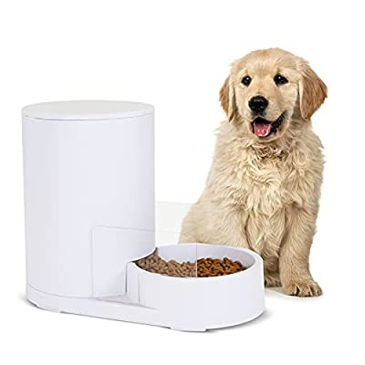 Amazon - 72% Off on Automatic Dog and Cat Feeder with Baffle,Pet Food Dispenser for Small…