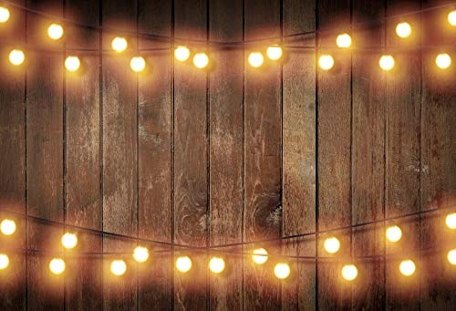 Fondo Pared de Madera Vieja Escenario de Boda Fiesta Flores Guirnalda Vela Retrato de niño Fondos fotográficos Estudio fotográfico A12 9x6ft / 2.7x1.8m
