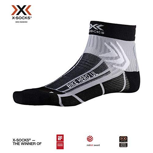 X-Socks Socks Bike Hero Ultra Light, Opal Black/Dolomite Grey, 42-44, XS-BS06S19U-B003-42/44