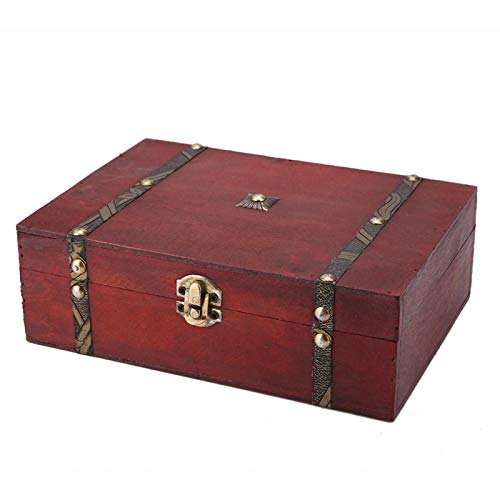 Old Fashioned Wood Box Vintage Wood Box, Retro Wooden Box, for Home Storage for Home Decoration