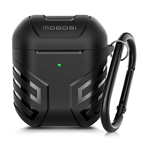 MOBOSI Military AirPods Case Cover Designed for AirPods 2 & 1, Full-Body Protective Vanguard Armor...