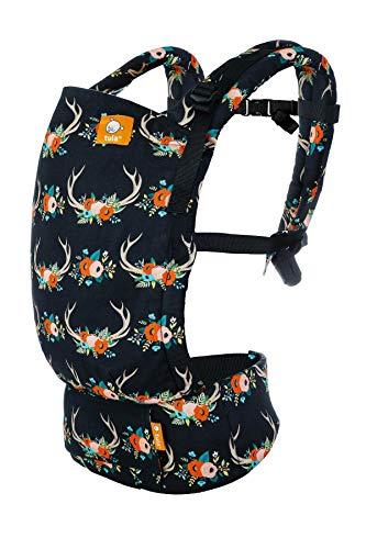 Tula Free-to-grow - ANTLERS - Marsupio ergonomico con coda di volpe anteriore e posteriore da neonato a bambino sicuro con cappuccio 3,5-20,4 kg