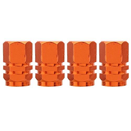 TOMALL Naranja Hexágono Estilo Rueda Válvula Neumático Stem Caps para Jeep SUV 4WD Llantas Cubierta de Polvo