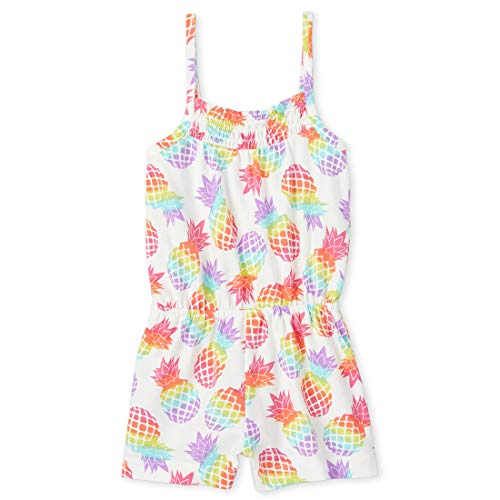 The Children's Place Baby Girls' Printed Short Rompers, Cupcake, 3T