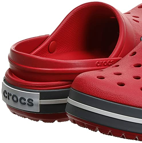 Crocs Crocband Unisex Adulta Zuecos, Rojo Pepper, 43/44 EU