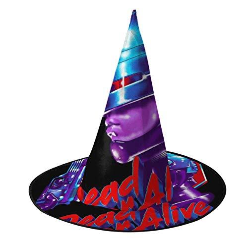 OJIPASD Sombrero de bruja de Robocop Dead Or Alive, disfraz unisex para Halloween, Navidad, carnavales